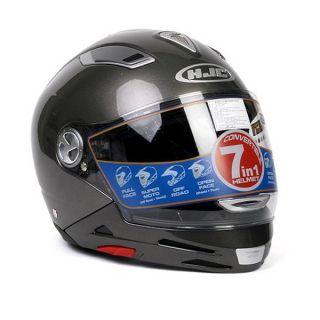 Motorcycle Helmet HJC Is Multi Metal Silver Large