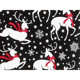 REINDEER & SNOWFLAKES Christmas Holiday Gift Wrap Paper