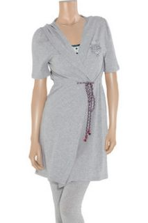 Juicy Couture Sleep Ahoy cotton blend jersey hooded robe