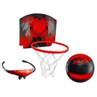 FIREVISION SPORTS NERFOOP   Red Frames Ball Backboard Basketball Hoop