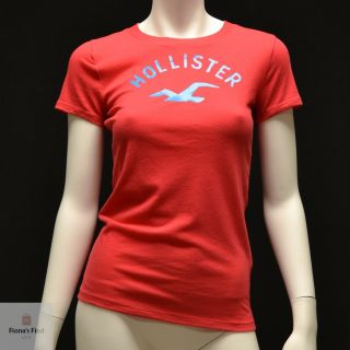 by Abercrombie Women Short Sleeve T Shirt Hobson Park Red