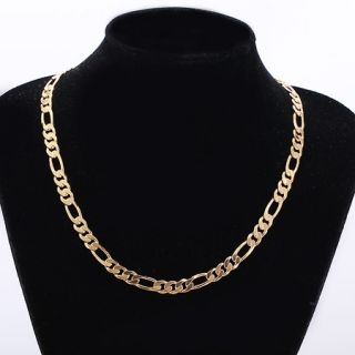 So Cool 9K Real Yellow Gold Filled Mens Link Necklace 24 inches C132