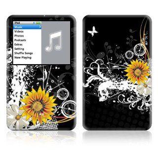 Black Skull Decorative Skin Decal Sticker for Apple iPod