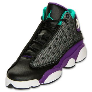 Girls Gradeschool Air Jordan Retro 13 Black/Teal