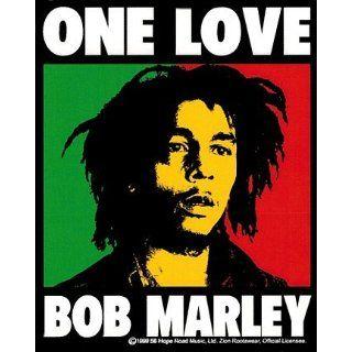 Bob MARLEY ONE LOVE LOGO Sticker 4 X 5 Clothing