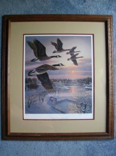 James Meger One More Pass Canada Geese  1987 s N COA