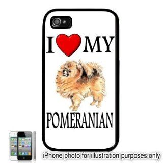 Pomeranian I Love My Dog Apple iPhone 4 4S Case Cover