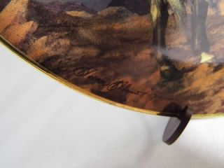Franklin Mint Spirit of The Skies Hermon Adams Indian Plate 24K Gold