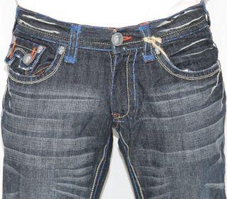 New Mens Laguna Beach Jeans Hermosa Beach Fleur De Lis Bootcut 33