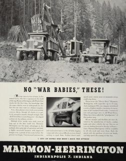 1943 Ad WWII Marmon Herrington All Wheel Drive Trucks Wartime