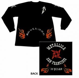 Shirt Metallica San Francisco 30 Years Long Sleeve Hetfield