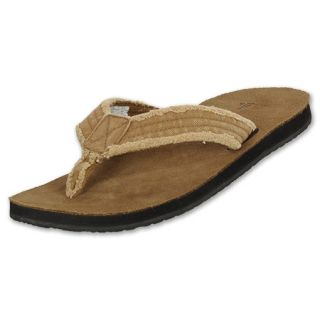 Sanuk Mens Frayed Not Sandal Khaki