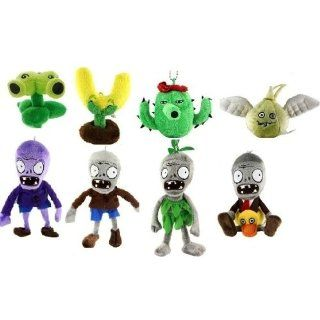 4 Plants and 4 Zombies Mini Stuffed Plush 8 set   Split