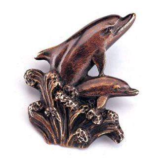 Solid Brass Hidden Dolphin Door Bell Bronzed