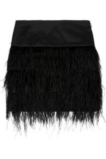 By Malene Birger Alexandrie ostrich feather trimmed mini skirt   30% Off