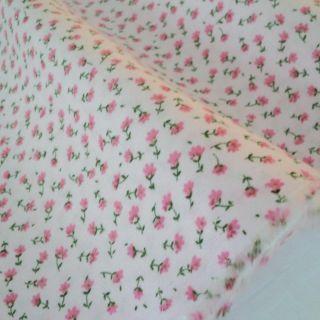 Floribunda Dusty Teal Blues Beige 100 Cotton Fabric