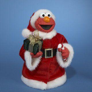 10.5 Sesame Street Elmo Wearing Plush Santa Suit