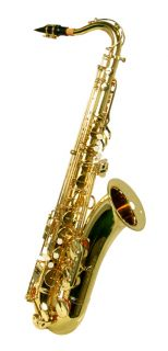 NEW BRASS TENOR SAXOPHONE SAX W/5 YEARS WARRANTY.
