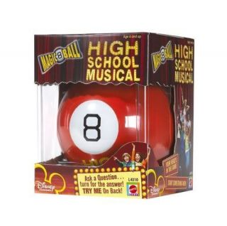 NIB MATTEL DISNEY HSM HIGH SCHOOL MUSICAL MAGIC EIGHT 8 BALL TOY GAME