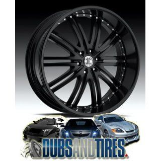 24 Inch 24x10 2 Crave wheels No.11 Glossy Black/Machined Face wheels