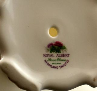 Royal Albert Highland Thistle Pedestal Cake plt Compote