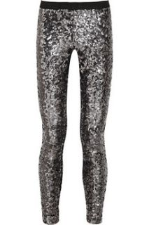 By Malene Birger Milli sequined stretch jersey leggings   50% Off