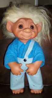 Vintage 1979 TH Dam Hillbilly Boy Overall Troll Doll Jumbo Big 17 18