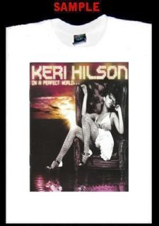Keri Hilson Custom Photo T Shirt Tee Perfect World 825