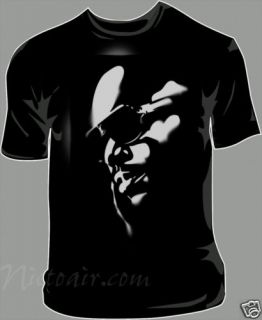 Rick Ross Airbrushed Stencil Shirt Hip Hop Airbrush