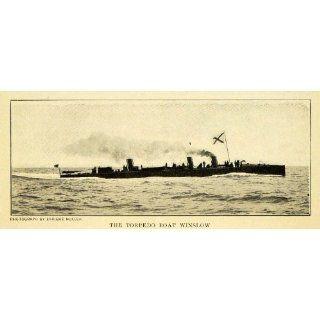 1903 Print Torpedo Boat Winslow United States Navy Ship