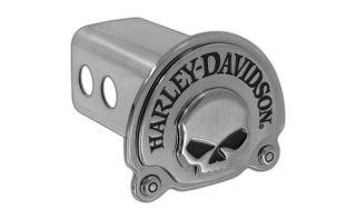 Harley Davidson Metal Trailer Hitch Cover Plug 3D Skull Emblem