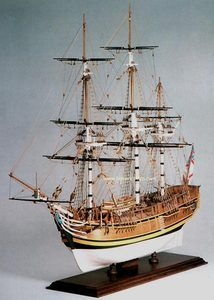 HMS BOUNTY 1787 Historic Scale Wooden Model Ship Kit Amati Model 1432