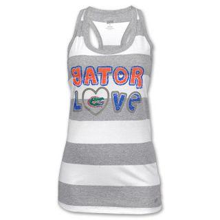 Soffe NCAA Florida Gators Womens Stripe Racer Tank