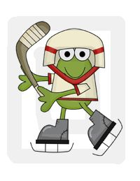 Hockey Frogs Froggy Sports Nursery Wall Stickers Decals