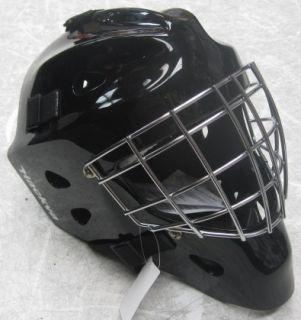 Hackva Hockey Goalie Goal Face Mask Helmet Large Black Chrome Cage
