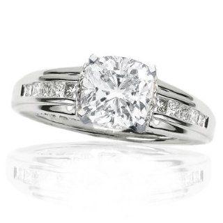 55 Carat Pave set Round Diamond Ring Jewelry