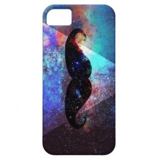 galaxy hipster mustache iPhone 5 case