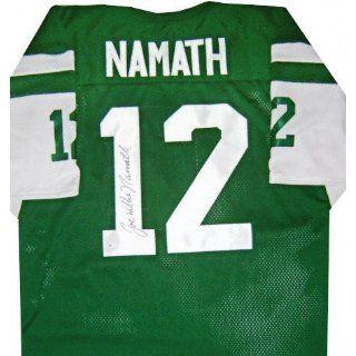Joe Namath Autographed Custom Style Green Throwback Jersey