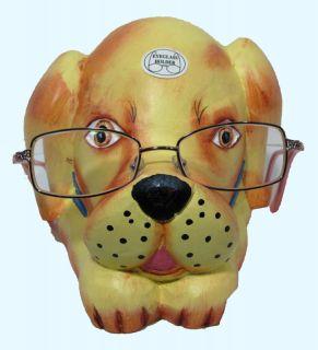 Dog Reading Eyeglass Holder Glasses Stand Canine Gift New