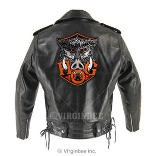 Hog Wild Boar Head Harley Rider Jacket Biker Patch Huge