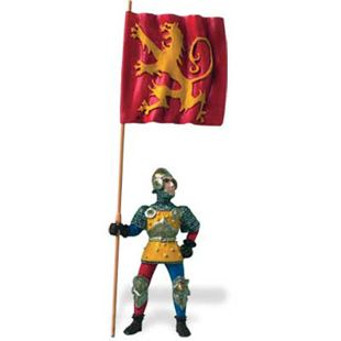 KNIGHT HOLDING RED FLAG # 62011 * Medieval Knights * $25+SAFARIFree
