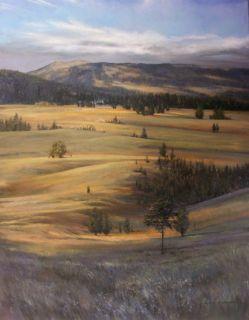 Gardners Hole Original Art Oil Painting Yellowstone PK