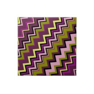 Zig Zag Pattern with Trendy Colors Tile
