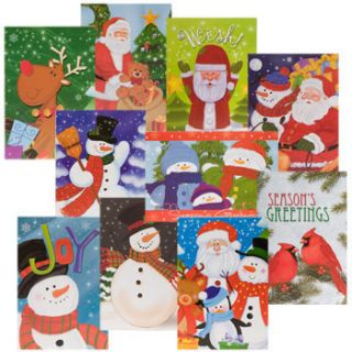 Lot of 60 Christmas Cards Holiday Greeting Cards Envelopes 4x6