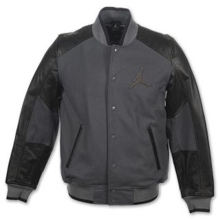 Jordan VIP Lettermans Mens Jacket Dark Grey/Black
