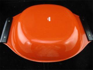 Paella Pan in Burnt Orange w/Black Handles Holland Cathrine Holm