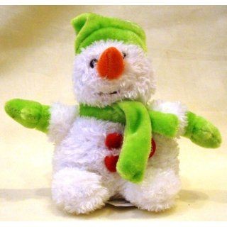 Green Musical Snowman Plush Toy We Wish You a Merry