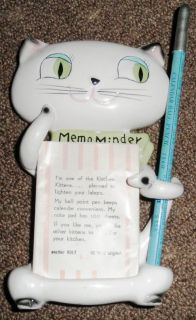 RARE 1959 Holt Howard Cat Cozy Kitten Memo Note Minder Holder w Pencil