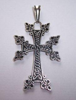 Armenian Silver 925 Holy Cross Pendant Armenia Cross