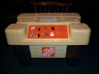 Vintage   Home Depot Talking Tool Chest & Workbench + Play Tools